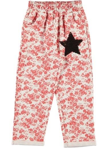 Morhipo Kids Yıldız Detaylı Çiçek Desenli Eşofman Altı Pembe